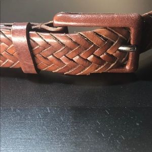 Talbots - Genuine Leather - Medium Braided Belt